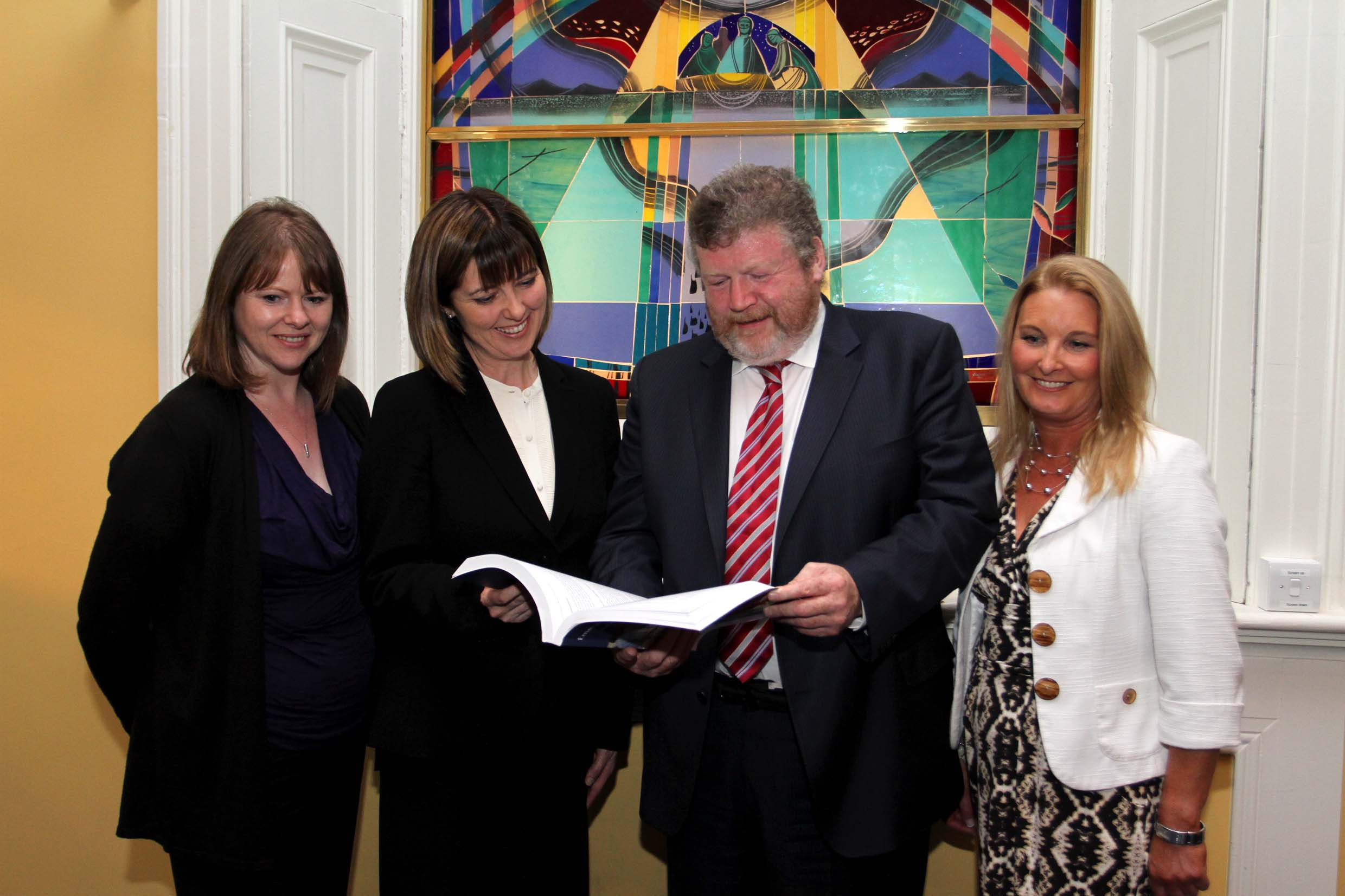 Susanna Byrne, Dr Una Geary, Minister Reilly and Valerie Small