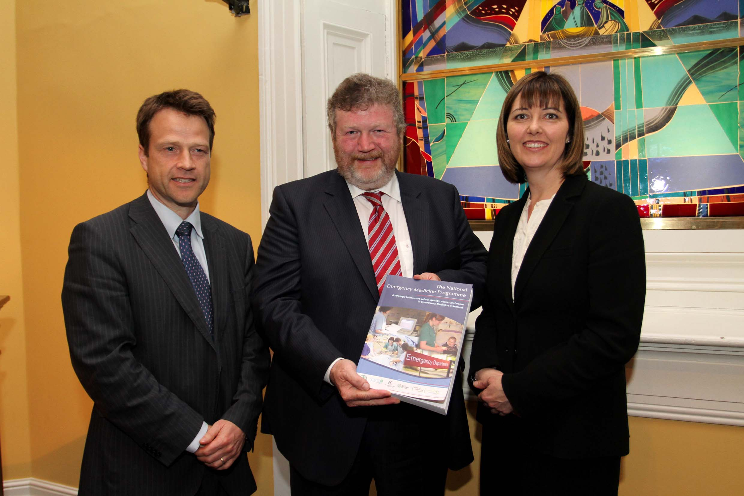 Dr Barry White, Minister Reily, Dr Una Geary - EMP Launch
